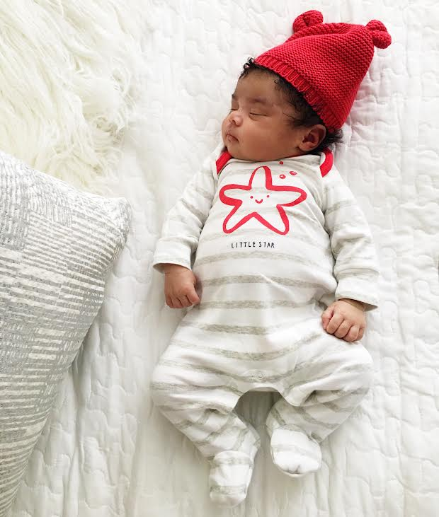 Onesie and hat from Baby Gap