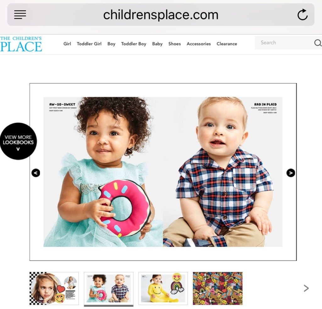 AnnDrew modeling for children's place - indrewsshoes.com